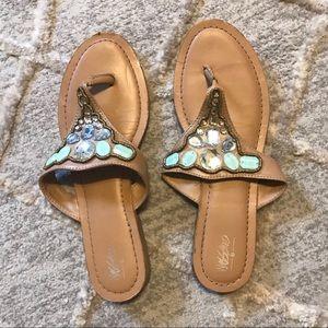 Merona, Rhinestone Thong Sandals, Sz 10